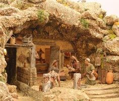 1 million+ Stunning Free Images to Use Anywhere Nativity House, Diy Nativity, Christmas Nativity Scene, Christmas Villages, Nativity Stable, Nativity Sets, Christmas Cave, Christmas In Italy, Christmas Holidays
