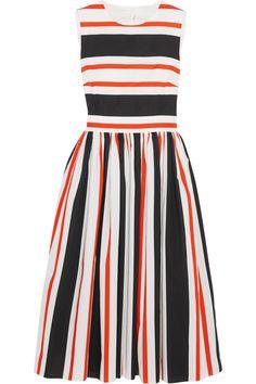 DOLCE & GABBANA CUTOUT STRIPED COTTON-POPLIN DRESS $747.50 http://www.theoutnet.com/product/645710