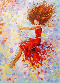 Buy Girl on the swing 110х80, Oil painting by Olha Darchuk on Artfinder. Discover thousands of other original paintings, prints, sculptures and photography from independent artists.