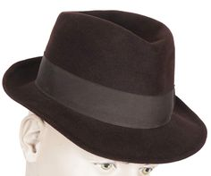 Vintage Borsalino Fedora Mens Brown Hat Qualita Superiore Size XS