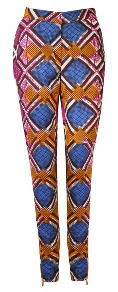May Blog: Spring Trends - Printed Trousers African print trousers- Libby Blue diamond - OHEMA OHENE