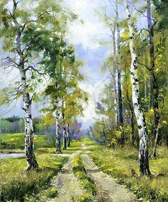 Birch Path - Tapetit / tapetti - Photowall