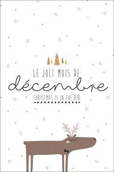 December postcard to print – Freebie and Printable - NOEL Diy Agenda, Agenda Planner, December Daily, Weekly Log, Mood Instagram, Christmas Illustration, Planner Organization, Christmas Love, Christmas Cards