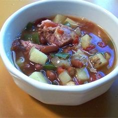 "Ham Bone Soup | ""This was a great alternative to making lentil soup which is what I always made with the left over ham and bone. Great flavor too!"""