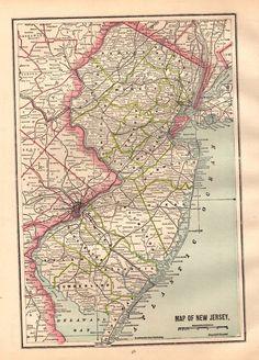 1935 Vintage PHILADELPHIA Map Neat Map of Philadelphia Gallery Wall ...