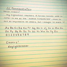 How do I make my handwriting this neat? - Imgur