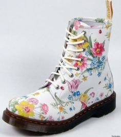doc marten flower boots - Google Search