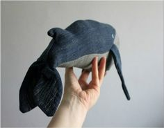 Old Jeans Whale Ideas