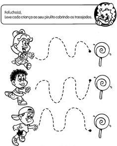 ATIVIDADES COM TRACEJADO PARA MATERNAL | Cantinho do Educador Infantil Pre Writing, Child Day, Home Schooling, Social Platform, Fine Motor, Kids And Parenting, Preschool, Activities, Learning