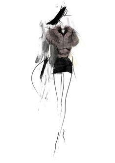 Fashion Sketch - fashion design drawing; fashion illustration // ancoula via deviantART