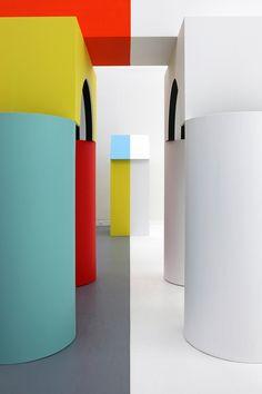 Daniel Buren – Comme un jeu d'enfant, jusqu'au 8 mars 2015 au Musée d'Art moderne et contemporain de la ville de Strasbourg © Phoebe Meyer