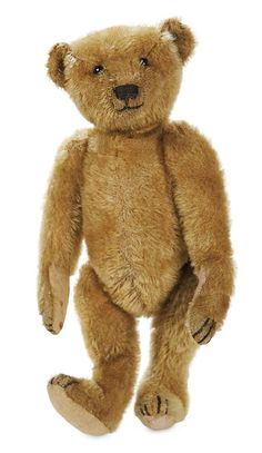 "Theriault's - 11"" Early German Mohair Teddy Bear by Steiff, c 1920"