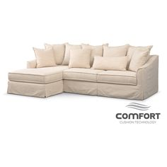 living room furniture brooke comfort sectional with leftfacing chaise ivory