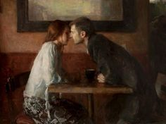 А stolen kiss,  by Ron Hicks