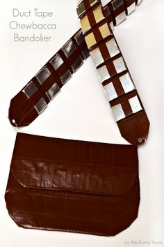 Duct Tape Chewbacca Bandolier It's easy to make your own Chewbacca style bandolier with duct tape! Perfect for your Halloween costume, too!