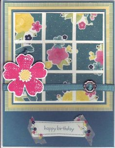 Faux Grout window by Stampin Wrose - Cards and Paper Crafts at Splitcoaststampers