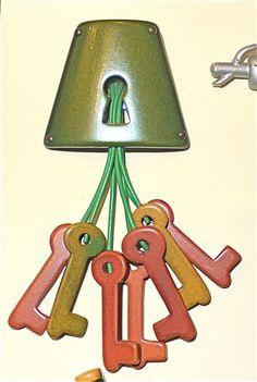 Bakelite keys Brooch
