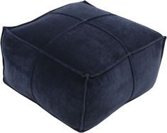 Surya Cotton Velvet Cube Pouf [CVPF005-242413]