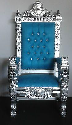 Best Hollywood Regency Royal Blue Gold Xl Lion Head King 400 x 300