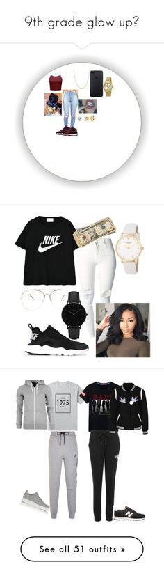 """""""9th grade glow up💦"""" by sierra-roberson-1 ❤ liked on Polyvore featuring Rolex, BERRICLE, NIKE, Kate Spade, (+) PEOPLE, CLUSE, Calvin Klein, New Look, New Balance and Victoria's Secret"""