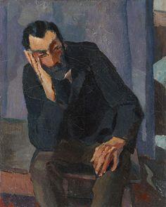 Albert Weisgerber (1878-1915), Bärtiger Mann, 1913; Öl auf Leinwand, 41x32,8 cm