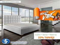 Uwaga! Promocja ważna do wyczerpania zapasów. Komplety łóżko tapicerowane Dolores + stelaż + materac kieszeniowy Passion Economic w wymiarach 140x200, 160x200 oraz 180x200.  W cenie obniżonej o 23%!  http://sagameble-sklep.pl/aktualnosci/6-promocja-wiosna-bez-vat-w-meble-marzenie