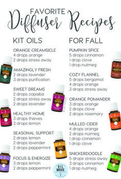 Fall Diffuser Recipes from Young Living | April Masterson