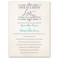 charmed mini wedding invitation | fairy tale wedding invites at Ann's Bridal Bargains