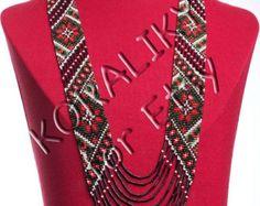 Black /Red /Gold. Traditional Ukrainian Folk Handmade by koraliky