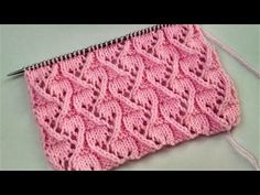 Openwork patterns with knitting needles. Incredibly beautiful and simple lace pattern - . Ladies Cardigan Knitting Patterns, Baby Knitting Patterns, Stitch Patterns, Crochet Patterns, Knitting Stiches, Lace Knitting, Knitting Needles, Crochet Bedspread, Crochet Instructions