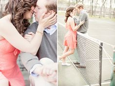 Tennis Engagement Session – Unique Wedding Photography » Vintage Wedding Photography