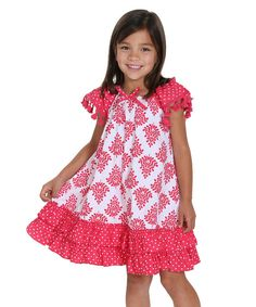 Jelly The Pug 2016 Boho Allie Woven Dress -Toddler & Girls 2T,3T,4,6,7,12 #JellythePug #Everyday