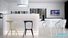 Projekt wnętrz kuchni w domu jednorodzinnym w Bytomiu. Projekt opracowany przez ArchiGroup / Adam Kuropatwa. /Interior design - #kitchen in a detached house in Bytom, Poland. Designed by #Archigroup. /  www.archigroup.pl  /