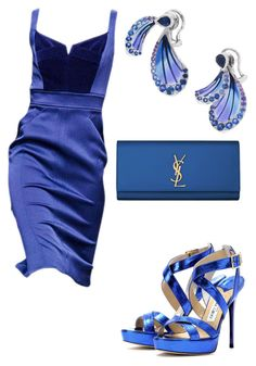 """Untitled #24058"" by edasn12 ❤ liked on Polyvore featuring Lalique, Yves Saint Laurent and Jimmy Choo"