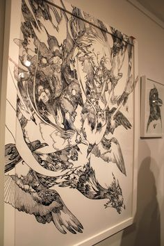 Katsuya Terada's Spiral # 4 for Terra's Black Marker at the Compound Gallery in Portland Oregon