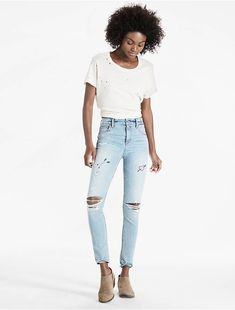 BRIDGETTE HIGH RISE SKINNY JEAN WITH EMBROIDERY, UNREAL