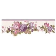Shabby Chic Wallpaper Border Laura Ashley Sommerset Flowers Fl Roses On