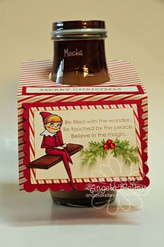 Elf on the Shelf cookie gift tag by Angela Kelley