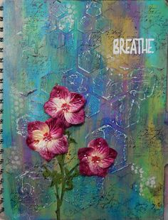 Breath...art journal page