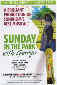 Sunday in the Park With George [2008 Broadway Revival window card]
