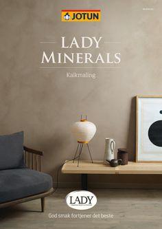 Se hvordan du skaper vakre kalkede vegger med et unikt fargeuttrykk Beige Kitchen, Grey Kitchens, Room Colors, Wall Colors, Jotun Lady, Lime Paint, Wall Bar, Interior Decorating, Interior Design