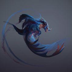 Dragon Sketch 02, Tyler Smith on ArtStation at https://www.artstation.com/artwork/AxeKz
