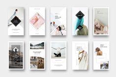 Instagram Stories Pack by Pixelove on @creativemarket  #design #instagram #layout