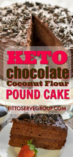 Keto Chocolate Coconut Flour Pound Cake an incredibly rich, moist chocolate cake that also happens to be low in carbs, grain-free, gluten-free, nut-free, sugar-free and keto-friendly. What's not to love? #ketochocolatecake #ketonutfreechocolatecake #ketocake #lowcarbchocolatecake #lowcarbcake #coconutflourrecipe #coconutflour