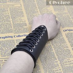 Skull Hoodies, Jackets, T-Shirts, Shoes, Boots and more Punk Style Cross ... fined here http://rebelstreetclothing.com/products/punk-style-cross-strings-black-leather-bracer-arm-armor-cuff-gothic-cosplay-costumes-accessories