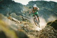 Rider, Andrew Shandro on Top of the World trail