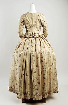 1790-94 German Silk Dress