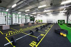 Nochintz has designed & branded QDos is a fitness facility offering CrossFit, Strength and Conditioning classes. Fitness Design, Gym Design, Google Design, Piscina Spa, Warehouse Gym, Gym Center, Dream Gym, Crossfit Box, Gym Interior