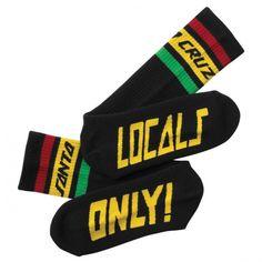 Santa Cruz Tallboy Socks 2 Pairs Black