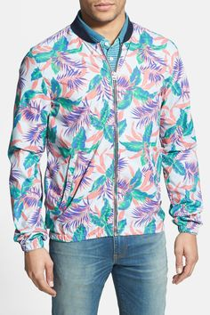 Scotch & Soda Floral Print Bomber Jacket by Scotch & Soda on @nordstrom_rack